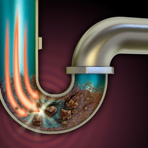 clogged drain pipe